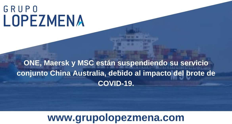 ONE, MAERSK y MSC suspenden su servicio conjunto China-Australia